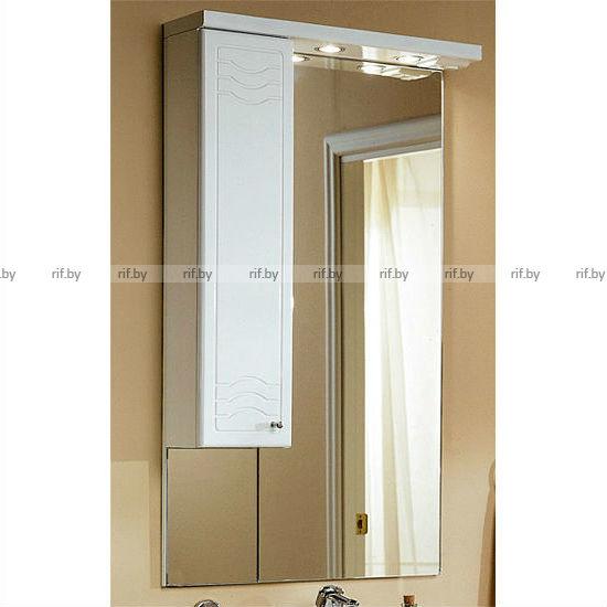 шкаф с зеркалом акватон домус 65 белый